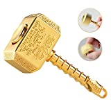 Fidgit Finger Hand Spinner Fidget Cube Blocks Fidget Chain Hammer Spinners Metal ADD ADHD EDC Anxiety Toy Focus Copper Fidget Toys Fingertip Gyro Stress Relief for Kids Adults(Gold)