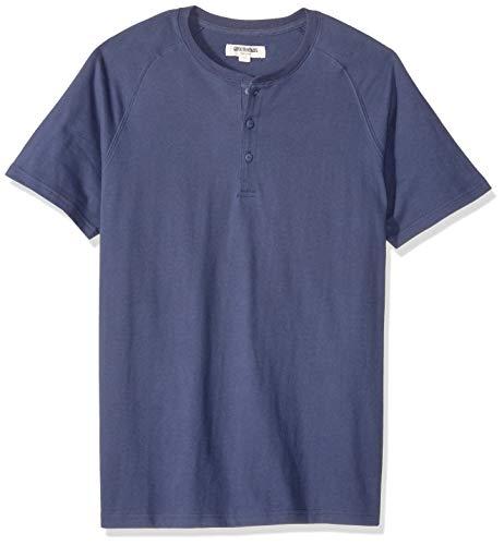 Amazon-Marke: Goodthreads Herren Henley Shirt, Navy, Large