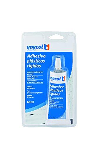 Unecol 2209 Adhesivo para plásticos rígidos (blíster con tubo), Transparente, 60 ml