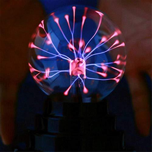 QFWM Lámpara de oficina de 7,6 cm con forma de bola de plasma de mariposa, lámpara de mesa mágica fresca y divertida ciencia para estudio
