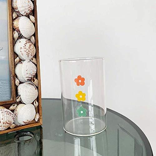 Copas De Champán, Tazas, Regalos Tazas De Vidrio De Flores Lindas Creativas Con Posavasos Taza De Vidrio De Té De Leche Taza De Café Botella De Agua De Vidrio Lindo