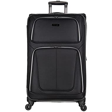 Kenneth Cole Reaction Lincoln Square 28  1680d Polyester Expandable 4-Wheel Upright Pullman, Black