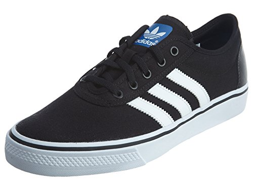 adidas Originals mens Adiease Skate Shoes , Black/White/Black, 10.5 US