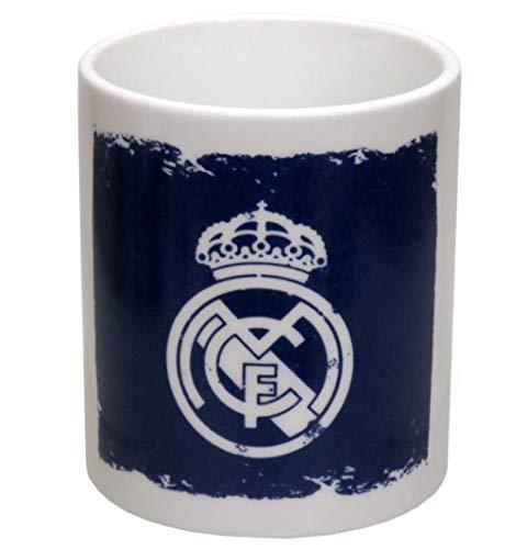 Real Madrid Taza DE CERÁMICA EN Caja, Adultos Unisex, Blanco/Azul (Blanco), Talla Única