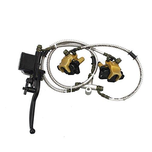 GOOFIT Frontscheibenbremse Hauptbremszylinder Hydrauliksattel Ersatz für China 50cc 70cc 90cc 110cc 125cc ATV Quad