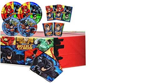 Coordinato TAVOLA Justice League 85 PZ per Festa Compleanno...