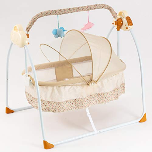 Buy Bargain Gliding Bedside Bassinet Portable Crib Bouncer for Baby Baby Bed Automatic Swing for Bab...