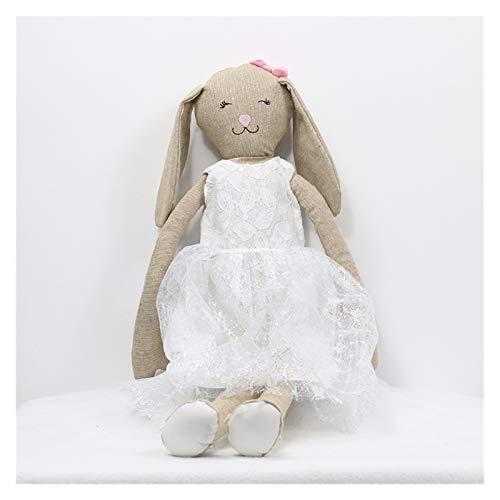Juguetes de peluche Animales de peluche niños animal conejo dormir lindo dibujos animados peluche peluche peluche muñecas niños cumpleaños regalo de cumpleaños regalo ( Color : White , Height : 80cm )