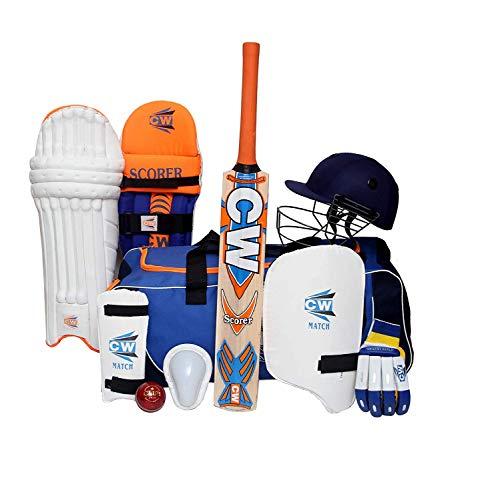 CW SCOREMASTER Cricket-Set mit Rechtshänder-Schutzausrüstung für Senior