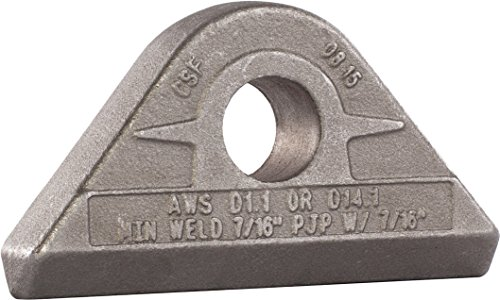 MAG-Mate PE0650 Weld-On Pad Eye, 6-1/2 Tons Working Load Limit, 13000 lb, Grey