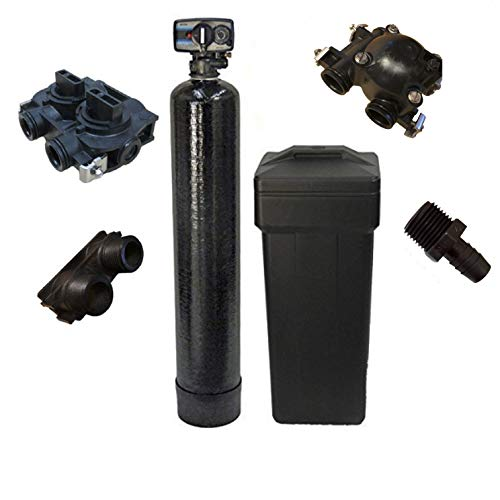 DURAWATER Mechanical Fleck 5600 Metered Water Softener 64,000 Grain Fine Mesh Resin Ships Loaded, Black