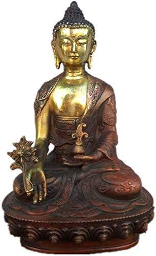 ZHIFENGLIU Statue Ornament Tibetischer Messing Buddhismus Bodhisattva Sakyamuni Buddha Statue Figuren Craftwork Home Interior Design
