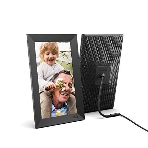 Nixplay Smart Digitaler Bilderrahmen 13,3 Zoll, Videoclips und Fotos sofort per E-Mail oder App teilen