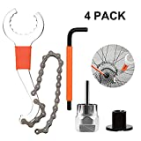 QKURT Bicycle Flywheel Remover Sprocket Remover Tool Set, Bicycle Cassette Removal Tool wi...