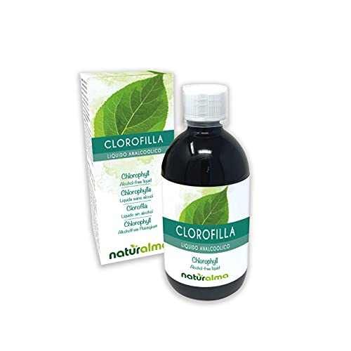 Clorofilla liquida senza alcool NATURALMA | liquido analcoolico 500 ml | Integratore alimentare | Vegano e 100% Naturale | Prodotta in ITALIA