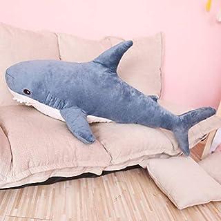 MINX 80/100 cm tamaño Grande Divertido Suave mordida tiburón de Peluche de Juguete Almohada Appease cojín Regalo para niños 100 cm