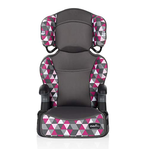Evenflo Big Kid Highback 2-in-1 Belt-Positioning Booster Car Seat, Bristol Pink