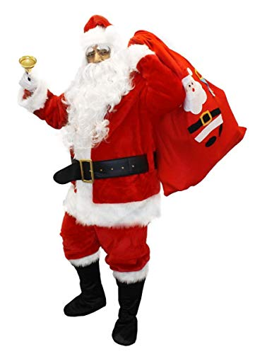 I LOVE FANCY DRESS LTD Ilovefancydress - Costume de Père Noël 12 pièces de avec Accessoires - qualité Professionnelle