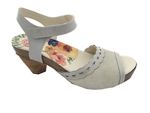 Brako Madura Zolder Damen Riemchen Sandale Wechselfußbett Klettverschluss (37 EU)