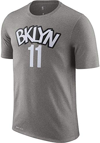NBA Youth 8-20 Performance Dri Fit Statement Edition Name & Number Player T-Shirt (14-16, Kyrie Irving Brooklyn Nets Gray Statement Edition)