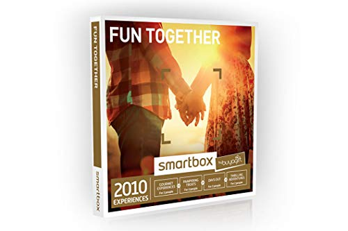 Buyagift Fun Together Gift Experiences Box - 2010 Gift Experiences - For Couples, Pamper Day for Two, Dinner for Two, Days Out, Afternoon Tea and more