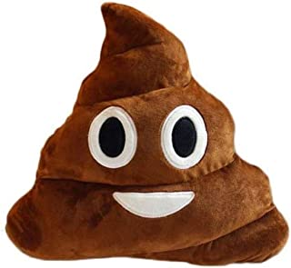 32cm Poop Plush Pillow Cute Emoji Stuffed Cushion Soft Toy Gifts for Kids Children (Smile poop)