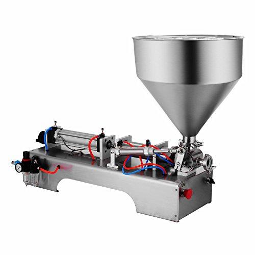 Mophorn pneumatische Füllmaschine 50-500 ml Abfüllmaschine Edelstahl 304 Füllmaschine Flüssigkeit horizontal halbautomatisch für Lebensmittel