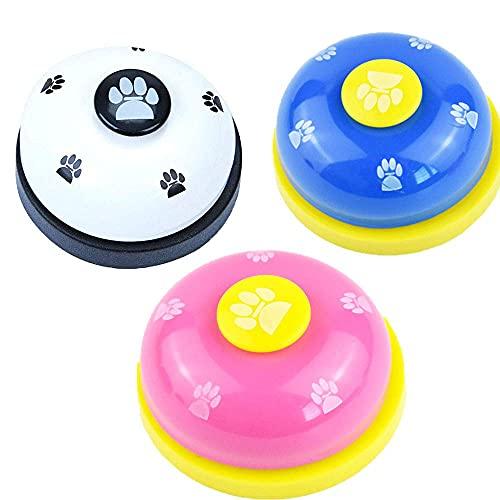 3 Campanas De Entrenamiento Para Mascotas, Entrenamiento Para Ir Al Baño, Dispositivo De Comunicación Con Anillo Transparente, Botón De Tamaño De Pata Para Perros Pequeños, Inteligencia Interactiva Pa