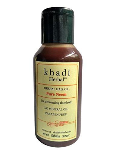 Khadi Pure Neem Oil 100 Ml - For Skin And Hair Pure And Natural Herbal Ayurvedic Neem Oil