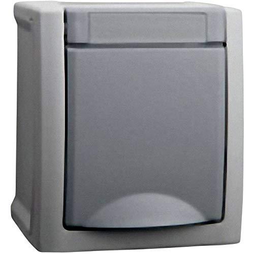 Viko Feuchtraum-Schalterprogramm Schutzkontakt-Steckdose Pacific Grau 90591008-DE, 1 Stück AP Steckdose