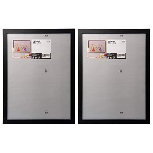Ikea - Cornice portafoto Fiskbo nera da 30 x 40 cm, set da 2 pezzi