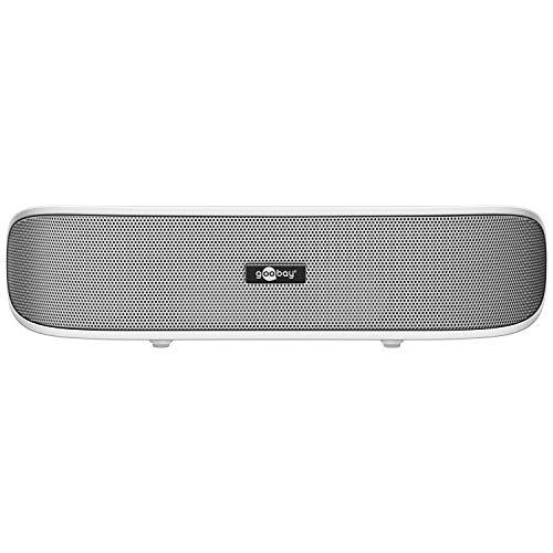 Goobay SoundBar 6W Stereo Lautsprecher für PC, TV und Notebook, weiß