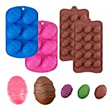 4 Pieces Easter Egg Chocolate Candy Molds Easter Candy Cookie Mould Silicone Baking Mold for Easter Chocolate Cake Pastry Truffle Pudding Jelly Dessert Decoration, Pink, Chocolate