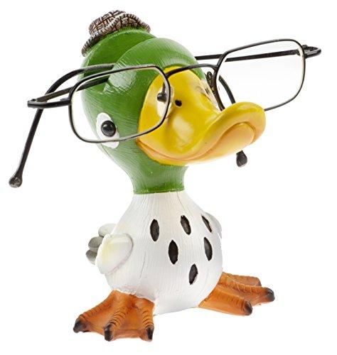 By Bers Brillenhalter Die_Vögel Design, handbemalt, aus Polyresin (weißgrün)