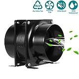 Inline Extractor Fan, HG POWER Quiet Axial Duct Fan Mixed Flow Ventilation for Attics, Vents, Grow Tents,...