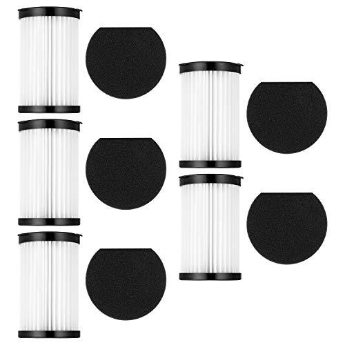 FOSUN Sostituzione filtri HEPA Compatibile con aspirapolvere Moosoo D600 e Ariete 2759/2761, Include 5 filtri e 5 spugne