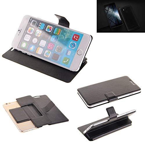 K-S-Trade® Handy Schutz Hülle Für Vernee Apollo X Flip Cover Handy Wallet Case Slim Bookstyle Schwarz