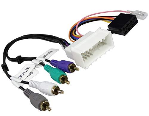 Aerzetix adapterkabel ISO voor autoradio. Maakt de aansluiting van een standaard ontvanger mogelijk op plaats van het originele geluidssysteem C43425