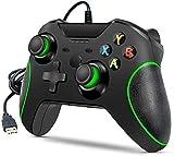Controlador con cable para Xbox One, Xbox One con cable y mando USB compatible con Xbox One/S/X/PC Windows 7/8/10 con conector de audio de 3,5 mm
