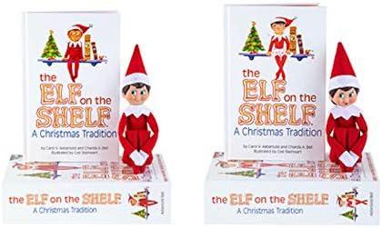 The Elf on the Shelf Tradición de Navidad | Duende en el estante Niño y niña, tono claro, ojos azules | PACK DOBLE | Elfos de Navidad