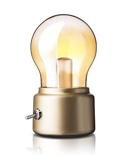 Aappy retro nachtlampje met usb-sfeerlicht, oplaadbaar, zacht bedlampje voor thuis, op reis en op tafel
