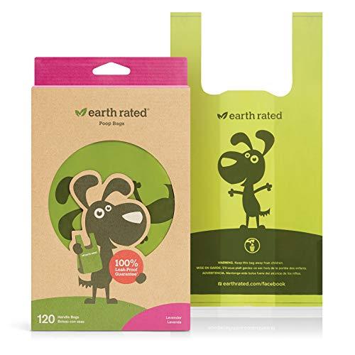 Earth Rated Hundekotbeutel, 120 Stück, mit Henkeln, Lavendelduft