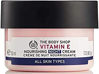 The Body Shop Vitamin E Nourishing Night Cream 50ml- helps to restore skin moisture overnight
