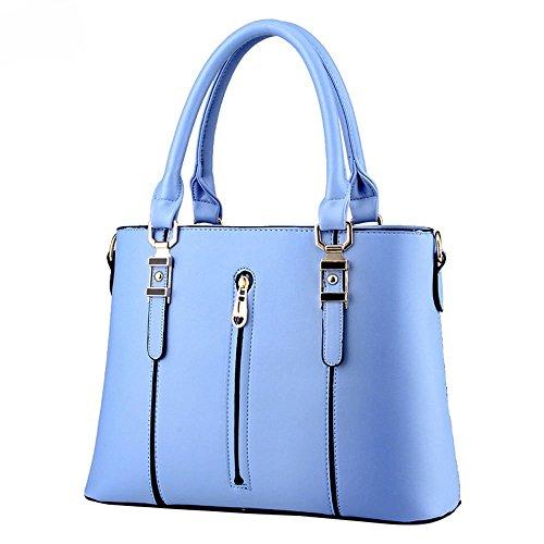 DELEY Moda Elegante Donna Cerniera Tote Borsa A Spalla Borsa A Tracolla Ufficio Valigetta Top Handle Bag