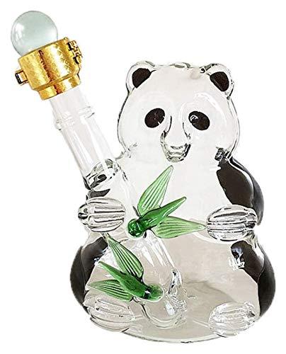 Carafes à décanter Panda Decanter - Sun Tea Bocal avec une cuisine Spigot Divertisseuse Pichet d'eau de verrerie pour le jus, le vin, le kombucha et les boissons froides, Clair, 500 ml