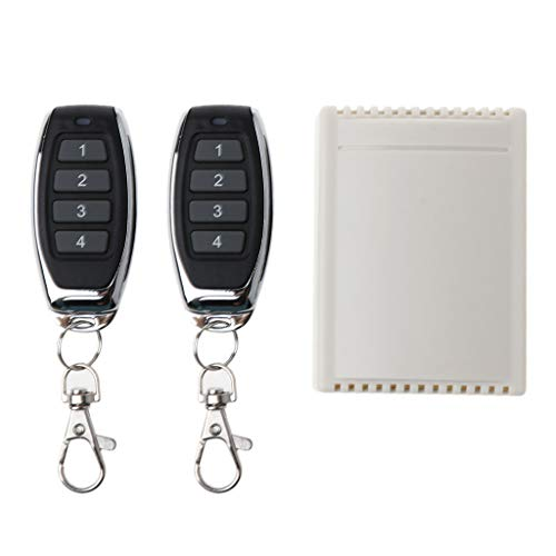 YOKING Interruptor de 4 vías 24 V Plus Receptor inalámbrico de mando a distancia con cuatro botones J027-4, mando a distancia RF