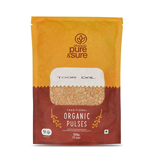 Pure & Sure Organic Toor Dal   Healthy & Wholesome Organic Pulses   Rich in Fibre, High Protein, Low Calories, No Preservatives  ...