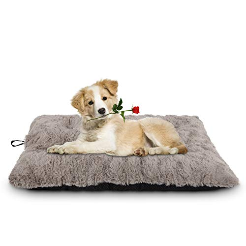 JOEJOY Dog Bed Crate Pad, Non-Slip Pet Mattress Tufted Fluffy Kennel Sleeping Mat 24/30/36/42 Inch Machine Washable for Large Medium Small Dogs and Cats (29
