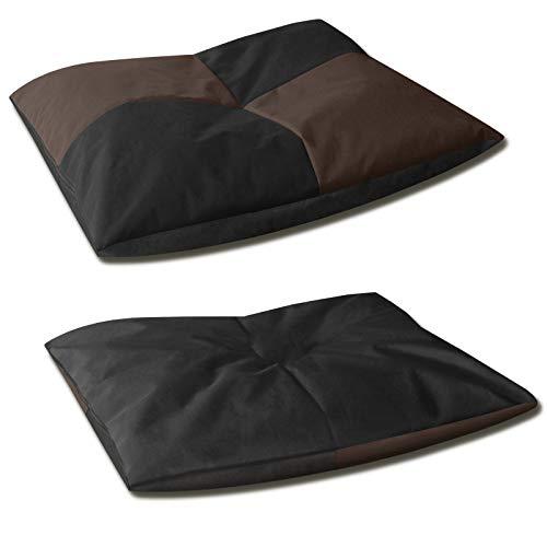 BedDog® BONA 2en1, Noir/Brun, L env. 65x50 cm,6 Couleurs,Panier Corbeille, lit pour Chien, Coussin de Chien