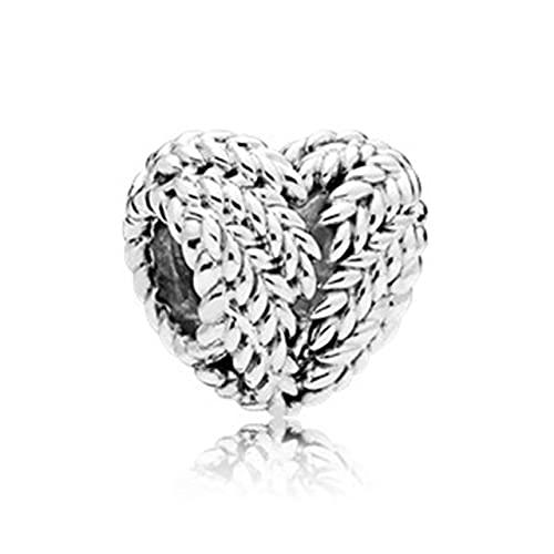 Nuevo Color plateado corona de plumas cadena de seguridad búho amor cuentas torre colgante FitCharms pulseras DIY mujeres Original Jewelry-S022